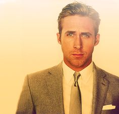 god damn i love a man in a suit!ryan gosling