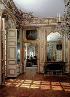 Louis XV The King's Chamber, Versailles Architecture Old, Architecture Details, Versailles Paris, Chateau Hotel, Style Français, French Style, Shutter Decor, Style Louis Xv, Old Shutters