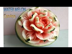 Watermelon new design Watermelon Carving Easy, Fruit Creations, Fruit And Vegetable Carving, Natural Medicine, Fruits And Vegetables, Food Art, The Creator, Make It Yourself, Recipes