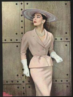 robe années 50 tailleur balmain