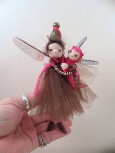 Mom and baby pixie FAIRY 18 poseable by DinkyDarlings Fairy World & Fantastic Creatures Keka❤❤❤