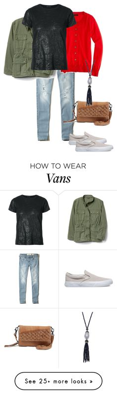 """""""chilly day"""" by sasha-retana on Polyvore featuring Hollister Co., J.Crew, ATM by Anthony Thomas Melillo, Vans, Day & Mood and BillyTheTree"""