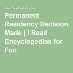 Permanent Residency Decision Made Immigration Officer, Decision Making, Canada, Writing, Reading, Fun, Making Decisions, Reading Books, Being A Writer
