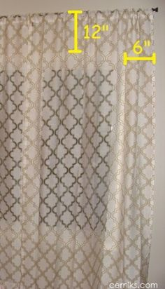 WINDOWS Hanging curtains- Could've used this sooner! Hanging Curtains, Diy Curtains, Window Coverings, Window Treatments, Cheap Home Decor, Diy Home Decor, Home Hacks, My New Room, Home Projects