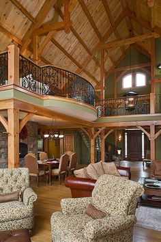Love this rustic family room! (photo only)