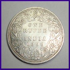 Coins ©: 1898 Victoria Empress One Rupee B Incuse) Silver Coin of British India. Rare Coin Values, Asian Books, Sell Old Coins, Uncirculated Coins, Buddha Meditation, Coins For Sale, Rare Coins, Silver Coins, Sword