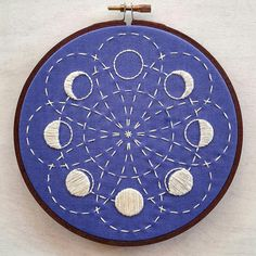 LUNAR BLOSSOM ... a cozyblue embroidery pattern from my original line drawing inspired by the cycle of the moon, sashiko stitching, and shibori dyeing colors. heres what youll get: PDF file detailing several methods of transfer instructions full sized pattern list of the embroidery floss color and stitches i used in the example photo.. feel free to use them as a guide if you like, or do something totally unique -- its up to you! details: *design is approximately 5.5, and fits nicely in a...