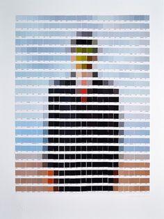 nick-smith-Pantone-arte-pixel-El hijo del hombre de Magritte