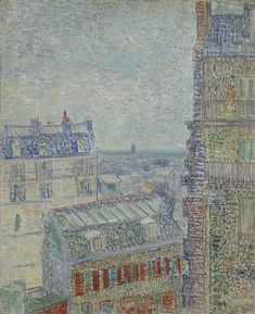 View from Theo's Apartment, 1887, Vincent van Gogh, Van Gogh Museum, Amsterdam (Vincent van Gogh Foundation).