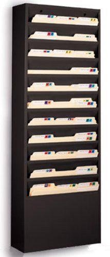 File Folder Wall Rack with 11 Tiered Pockets, Shows Only the Top Portion of a File Folder, Office Filing Rack for Wall Mount - Black Powder-coated Steel Displays2go,http://www.amazon.com/dp/B00A4JSJ14/ref=cm_sw_r_pi_dp_59oetb02N3T3N098