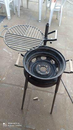 Pin on camping Pin on camping Welding Art Projects, Diy Welding, Metal Projects, Woodworking Projects Diy, Fire Pit Bbq, Diy Fire Pit, Fire Pit Backyard, Grill Diy, Diy Wood Stove