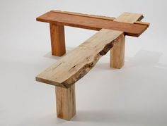 RISD student Felicia Hung built this L-shaped bench from two distinct species (cherry and maple) to symbolize Roosevelts peace-making role at the end of the Russo-Japanese war.