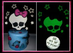 Monster Hight cake topper fosforescente original idea by Barbara Buceti BB Mode To Play