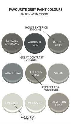 Interior Designer Approved Gray Paint Colors by Benjamin Moore: Benjamim Moore…