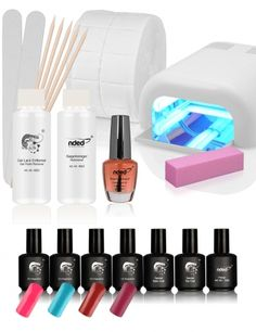 The Nail Eon Uv Polish Manicure Set For Beginners Contains Various Utensils To