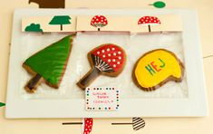 DIY Forest Friends Birthday Cookies