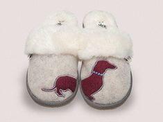 Missy Womens Dachshund Grey Mule Slippers – Dedicated 2 Dachshunds women's slippers - http://amzn.to/2ikL0vs