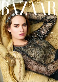 Lily James covers Harper's Bazaar December issue - pictures and video | Harper's Bazaar