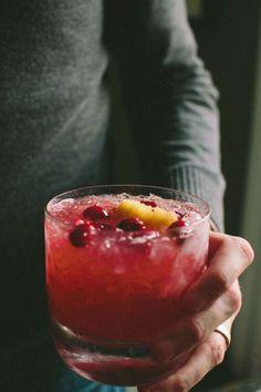 Cranberry Ginger Whiskey Smash | @athoughtforfood