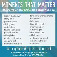 #CapturingChildhood - Simple Photo Prompts to help you capture moments that matter