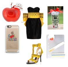 TEACHER!!! by gottalottaprada on Polyvore featuring polyvore, fashion, style, Moschino, Casetify and clothing