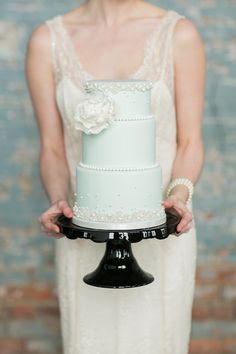 Mint and pearls: http://www.stylemepretty.com/2014/04/15/pretty-pastel-wedding-details/