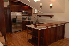 Cherry Wood Kitchen Cabinets cherry-wood-kitchen-with-bar-table – Kitchen Cabinets