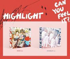 "HIGHLIGHT 1st Mini Album ""CAN YOU FEEL IT?"" SET K_POP CD+Photobook+Card+Poster #Pop"