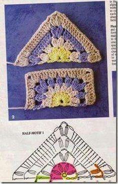 Transcendent Crochet a Solid Granny Square Ideas. Inconceivable Crochet a Solid Granny Square Ideas. Crochet Granny Square Beginner, Crochet Triangle, Crochet Motifs, Crochet Blocks, Granny Square Crochet Pattern, Crochet Diagram, Crochet Chart, Crochet Squares, Diy Crochet
