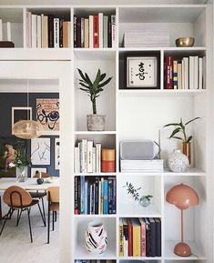scandinavian home accessories my scandinavian home: An Artful And Relaxed Apartment In Aarhus, Denmark (+ Get The Look) Shelf Inspiration, Interior Inspiration, Garderobe Design, Diy Home Decor For Apartments, Studio Apartments, Living Spaces, Living Room, Scandinavian Home, Scandinavian Bookshelves