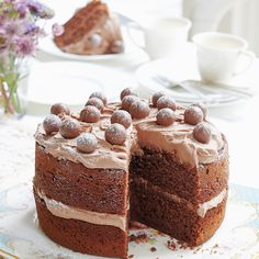 Mary Berry's malted chocolate cake, an easy baking recipe that will inspire your own Great British Bake Off