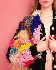 #knitwear #laerkebagger Knitwear Fashion, Crochet Fashion, Textile Texture, Knit Picks, Knit Or Crochet, Knitting Stitches, Crochet Designs, Crochet Necklace, Wool