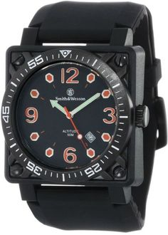 Smith & Wesson Men's Police Military Watch SWW-5800-BLK Altitude Black Band  #SmithWesson #Military