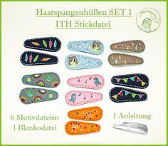 ITH Stickdatei Haarspangen von by Herzellie auf DaWanda.com