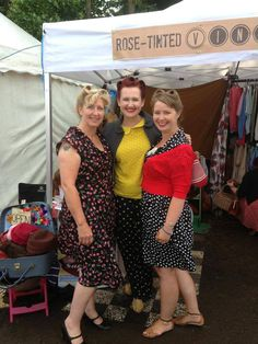 Vintage hair by me (Sarah's Doo-Wop Dos) done at my stand at Twinwood Festival 2013