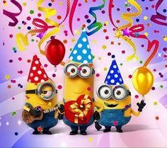 Happy Birthday Greetings Friends, Happy Birthday Blue, Birthday Wishes For Kids, Happy Birthday Pictures, Happy Birthday Funny, Happy Birthday Messages, Minion Birthday Card, Diy Birthday Banner, Birthday Frames