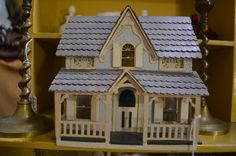 Vintage Dollhouse | Found this adorable vintage dollhouse in an antiques ... | Dollhouses