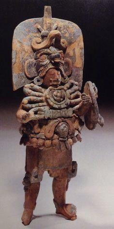 Ruler dressed as Chac-Xib-Chac Ancient Aliens, Ancient Art, Ancient History, Arte Tribal, Aztec Art, Colombian Art, Maya Civilization, South American Art, Aztec Culture