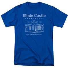 White Castle Burgers By The Sack T-Shirt | Vintage Style Tees | RetroPlanet.com