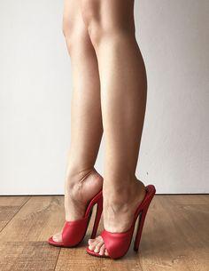 18MULE Sexy Mistress Hi Heel Stiletto Fetish Slipper Slides Mule Red Matte | Vêtements, accessoires, Femmes: chaussures, Escarpins | eBay!