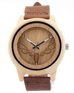 BOBO BIRD hueco grabado esqueleto principal de los ciervos de madera de bambú del reloj del movimiento de Japón 2035 reloj de cuarzo con correa de cuero para hombre -en los relojes de cuarzo de los relojes en Aliexpress.com | Grupo Alibaba