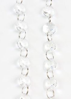 1-Meters-Faceted-Clear-Crystal-Glass-Beads-Strand-String-Home-Wedding-Decoration