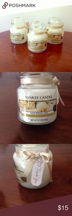 8 yankee candle wedding day candles 3 7 oz nwt