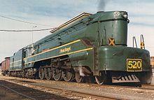 South Australian Railways 520 Class 4-8-4.Sir Malcolm Barclay Harvey
