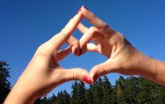 Happy love yoga mudra for blue skies!