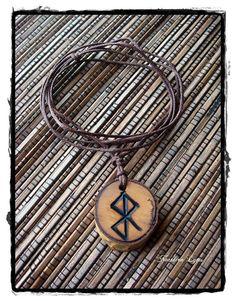 Safe Birth Protection  - Double sided Bindrune Pendant - Algiz, Odin, Pagan, Asatru, Protection Magick