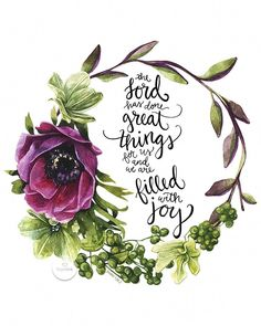 The Lord Has Done Great Things For Us Hand Lettered Scripture Art Hope Ink Christian woman Christianity women Bible Art, Bible Verses Quotes, Bible Scriptures, Bible Quotes For Women, Psalms Quotes, Biblical Quotes, Favorite Bible Verses, Christian Inspiration, Word Of God
