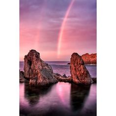 Diogo Pereira D19 - Rainbow Sunset ($25) ❤ liked on Polyvore featuring backgrounds