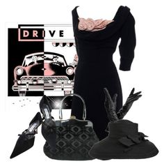 """""""Vintage Car"""" by cavell ❤ liked on Polyvore featuring Aspinal of London, Manolo Blahnik, vintage, women's clothing, women, female, woman, misses and juniors"""