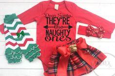 Girls Christmas Outfit Dear Santa Funny Christmas by NylaMarieKids